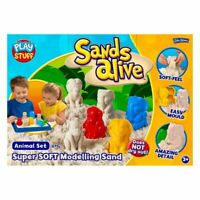 Sands Alive John Adams Jungle Animal Modelling Sand Playset With Tray Age 3+