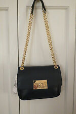 Cute Michael Kors Navy Small Shoulder Bag with Chain – NWT - $248