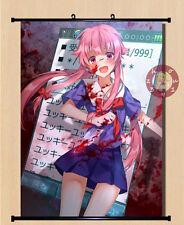 Anime Future Diary Gasai Yuno Home Decor Poster Wall Scroll 40cm*55cm#12-HF27