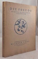 DIE FREUDE, 1920 Picasso Chagall Braque 1st Vol 1st Issue Painting Poetry Shorts