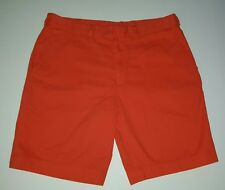 Tehama Golf Flat Front Shorts Bright Orange EUC Sz 36