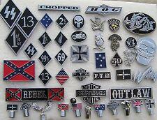 ~ ONE PERCENTER 1%er EMBLEM Chrome Metal Badge *NEW* Biker suit Harley Davidson