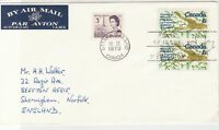 Canada 1970 Airmail FDC Maple Leaf Slogan Cancel Stamps Cover ref 22011
