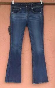 American Eagle Kick Boot Bootcut Jeans Women's Sz 10 Super Stretch AE