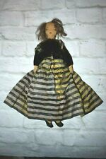"Antique Handmade Cloth Rag Doll Folk Art 15""T As Is"