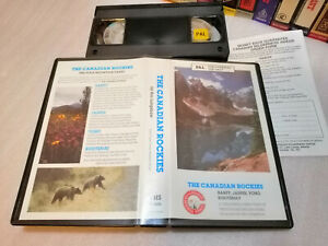 THE CANADIAN ROCKIES - Rare Canadian Wilderness Videos Issue in VHS PAL Format !