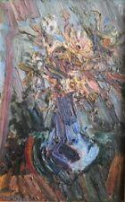Richard Mandin.(1909 / 2002) Bouquet de fleurs. huile sur isorel.v 164