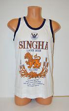 Singha Beer Singlet Vest Top White size Medium **UK STOCK** New