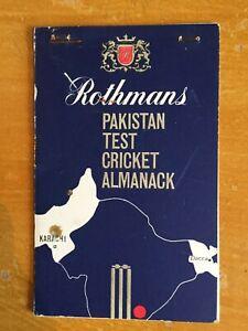 1954 Signed 9 RARE Rothmans Pakistan test Cricket Almanack imitiaz ahmed Alimudd