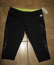 KENNETH COLE REACTION Running Athletic Yoga Black Capri Pants  LARGE