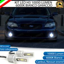 KIT LED H3 FENDINEBBIA SUBARU LEGACY IV CANBUS BIANCO XENO 10000 LUMEN