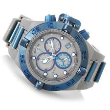 INVICTA MEN SUBAQUA NOMA IV SHARK EDITION CHRONOGRAPH BLUE GREY BAND WATCH 17207
