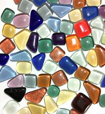 100g Mixed Colour Glass Crystal Mosaic Vitreous Tiles Irregular Shaped Art #46