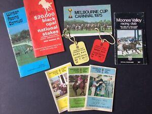 5 Vintage Racing Programmes & Vintage Racing Memorabilia
