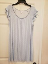 Charter Club Intimates Women's Large Blue/White Nightgown. 90%Rayon, 10% Spandex