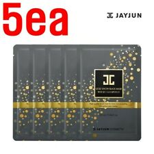 [JAYJUN] Gold Snow Black Mask Pack 5EA (Contains 10ppm pure gold) K-Beauty