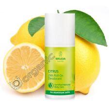 Weleda Organic Natural Citrus 24h Roll-On Deodorant Aluminium Free 50ml NEW