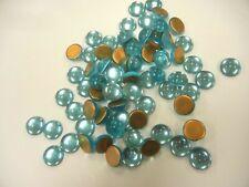 72 preciosa round cabascons,15mm aquamarine/goldfoiled