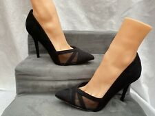 New Look Black  High  Heel Size 7 Shoes Workwear Faux Suede Effect