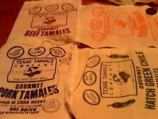 "New listing Lot 8 Muslin Cotton Drawstring Bags Sacks Texas Tamale Co Ass'T Styles10"" x 8"""
