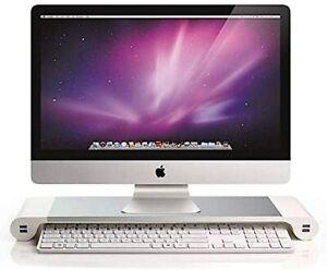 Soporte de aluminio para monitor ordenador Mac iMac HP Asus Acer MSi Microsoft
