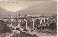 BELLUNO - FERROVIA BELLUNO CADORE - GRANDE VIADOTTO SULL'ARDO - TRENO 1912