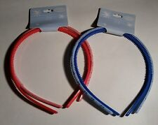 2 x Packs of 2 Headbands / Hair Accessories - Red & Blue Flowery (Ref.44)