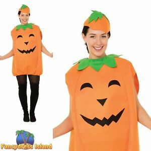 PUMPKIN TABARD & HAT HALLOWEEN One Size Adult Mens Ladies Fancy Dress Costume