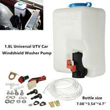 160186 Universal UTV Car Windshield Washer Pump Reservoir Kit 12V Washer Flui
