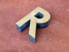 Letter R Vintage 1980's Metal Letters Made in Europe Initial Hand Made 3D