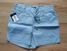 NWT Women's ELLEN TRACY COMPANY Chambray Blue Linen Shorts Size Small S