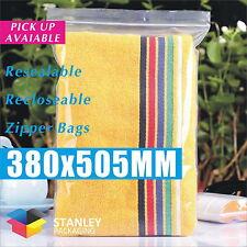 500x Zip Lock 380 X 505mm Resealable Ziplock Plastic Bags Recloseable Zipper 50U