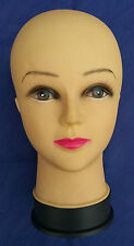 Neuware, XL Perückenkopf Schaufenster Puppen Kopf Damen Deko Damenkopf Handbemal