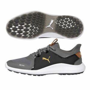 Puma Ignite Fasten8 WIDE Golf Shoes 19486401 Quiet Shade/Gold/Black - New 2021