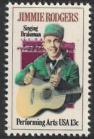 Scott 1755- Jimmie Rogers, Country Music- MNH 13c 1978- unused mint stamp
