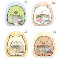 1 Bag Cute Cartoon Kawaii PVC Stickers Lovely Cat Bear Stic TDCA