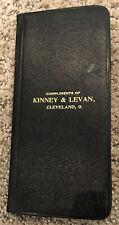 Kinney & Levan Hotel Supplies Cleveland Ohio 1908 Pocket Calendar Rare Book