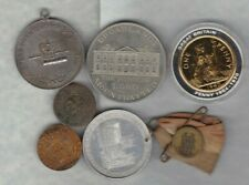 7 VARIOUS COMMEMORATIVE MEDALS IN AVERAGE VERY FINE CONDITION