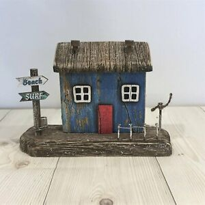 Rustic Beach Cottage Wooden Village House Indoor Home Ornament Bathroom Sea life