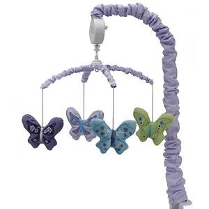 Beautiful Butterfly Nursery Crib Musical Mobile by NoJo