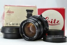 *Near Mint in Box* Leica SUMMICRON M 50mm f2 E39 BLACK CANADA M3 M6 Japan #1760