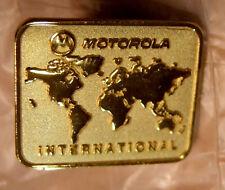 Motorola International gold tone pin