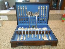 1847 Rogers Bros First Love 54 Piece Silverware Set in Original Case