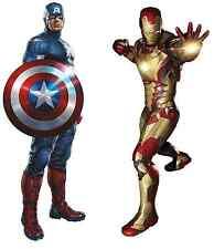 Marvel Avengers Captain America vs Iron-Man Civil War Wall Decor Sticker Decal