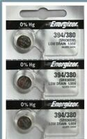 3 NEW ENERGIZER 394/380 WATCH BATTERIES Silver Oxide SR936SW (USA SELLER)