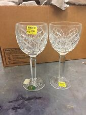 """PAIR HERITAGE IRELAND """"CATHEDERAL"""" 8"""" TALL  WINE TOASTING STEMS NEW!"""