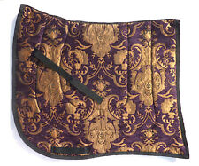 """""""Purple Gold Swallowtail"""" Baroque Dressage Saddle Pad - chenille tapestry"""