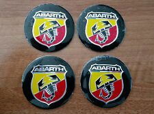 Set of 4pcs ABARTH COLOR emblem logo insignia 56,5mm - for hub caps