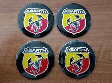Set of 4pcs ABARTH COLOR emblem logo insignia 56,5mm - for hub caps