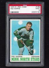 1970 OPC #166 Ted Harris PSA 9 MINT Vintage Minnesota North Stars Hockey 1970-71